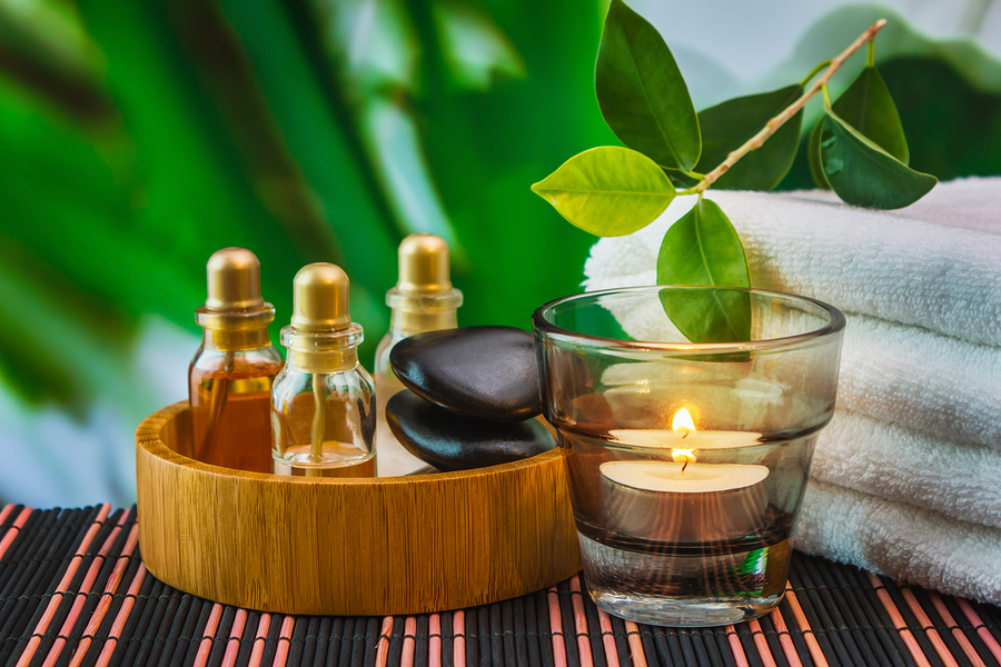 tools and accessories for spa treatments