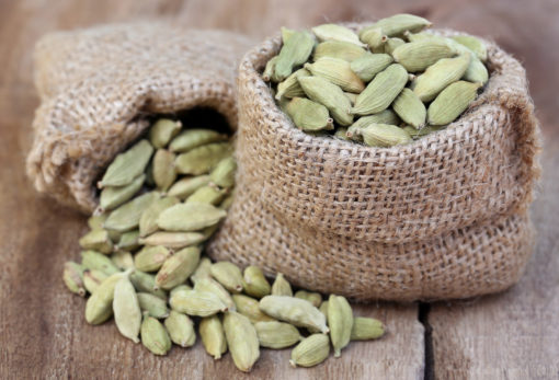 Close up of Cardamom seed in sack